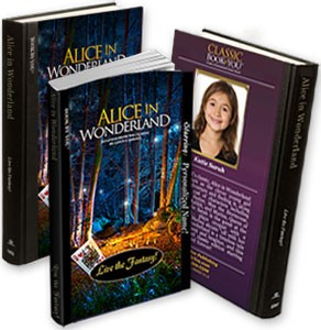 personalized alice in wonderland book