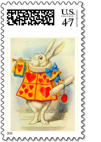 alice in wonderland postage stamps