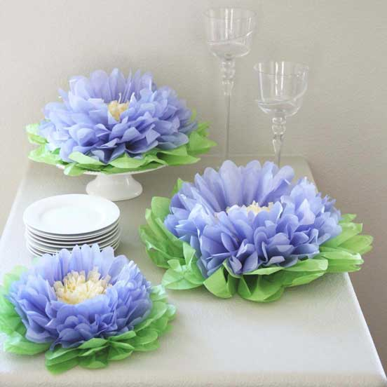 tissue paper flower decorations