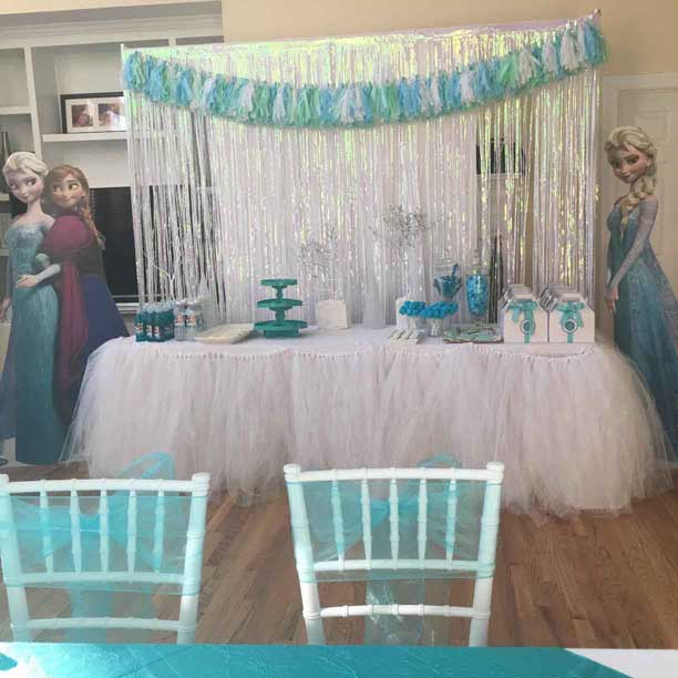 frozen party backdrop
