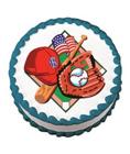baseball edible image