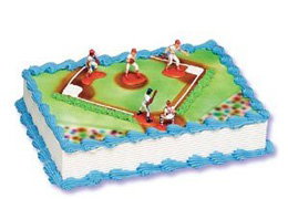 baseball cake decorating kit