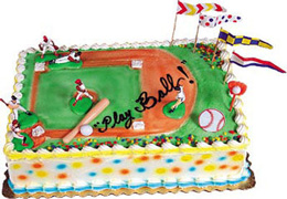 baseball cake decorations
