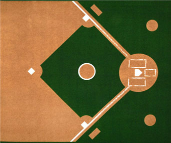 baseball diamond fabric panel
