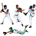 baseball player cut outs