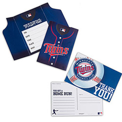 baseball invitations and thank you notes