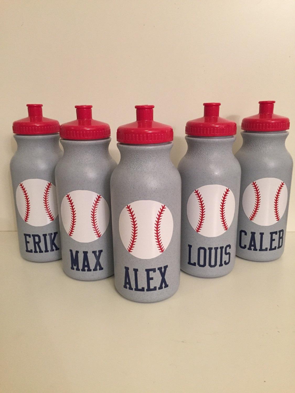 baseball water bottles