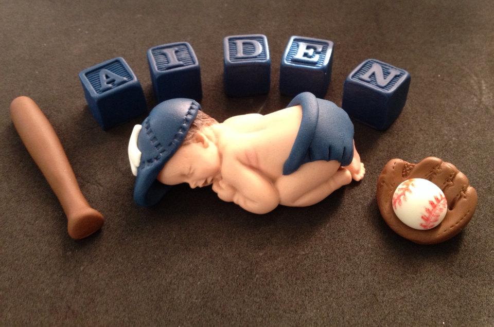 baseball baby shower cake topper