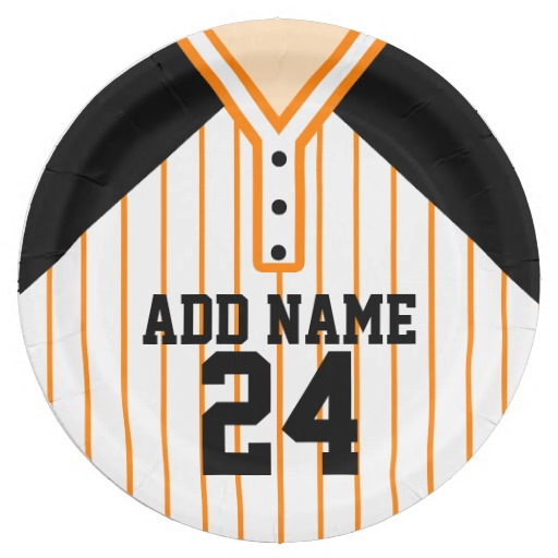 personalized baseball party plates