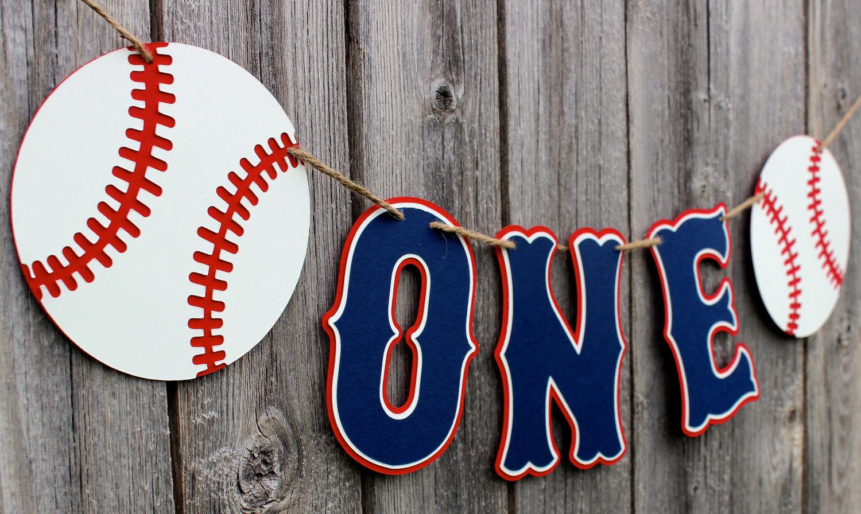 baseball garland banner