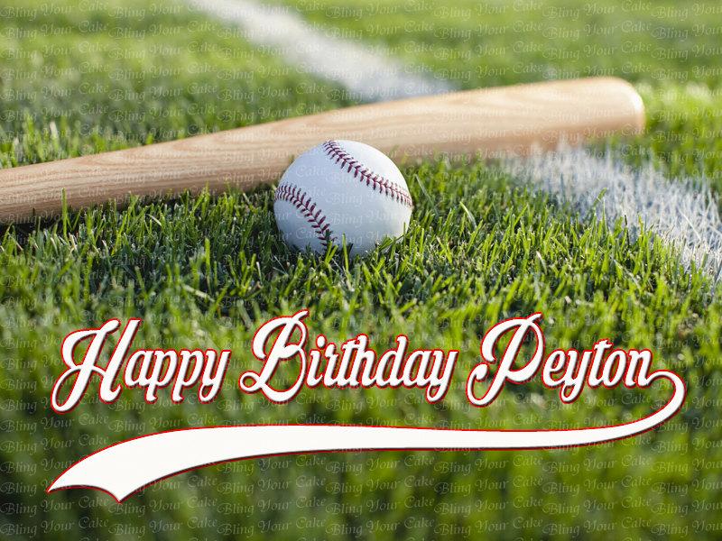 personalized baseball edible image