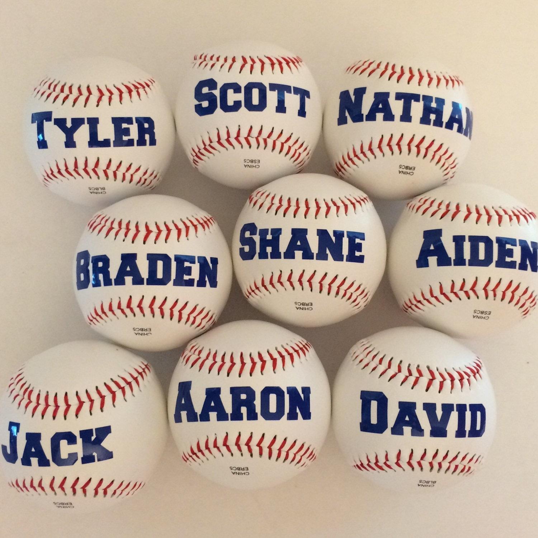 personalized baseballs