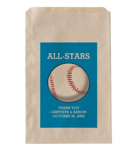baseball favor bags