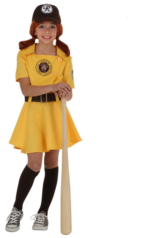 girls baseball costume