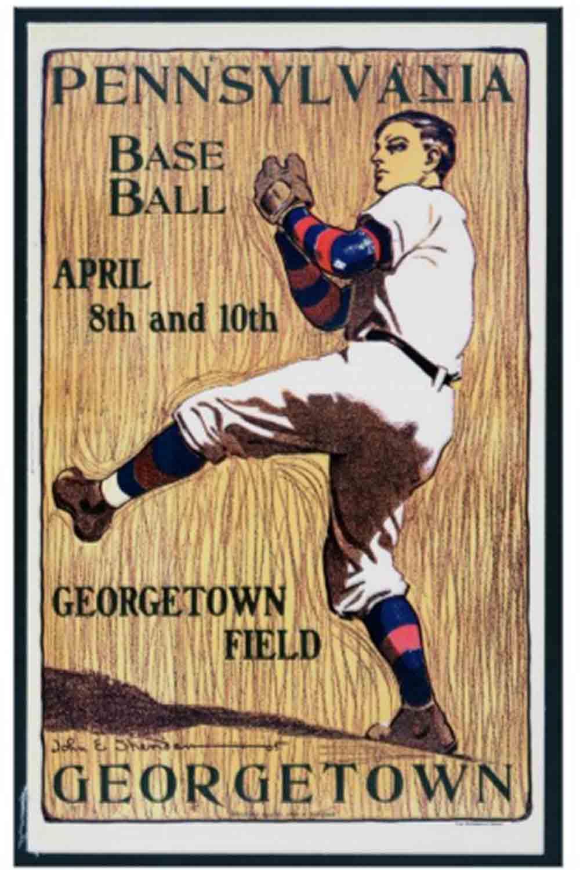 vintage baseball posters