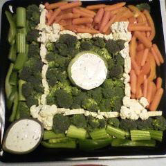 baseball vegetable platter