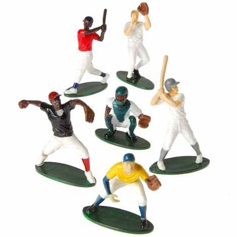 baseball player cake toppers