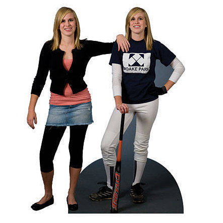 personalized baseball standee