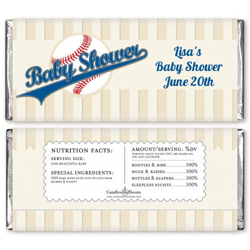 baseball candy bar wrappers