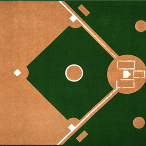 baseball diamond fabric