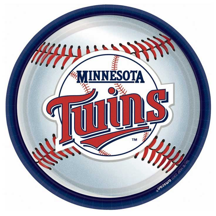minnesota twins team party plates