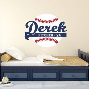 baseball wall decals