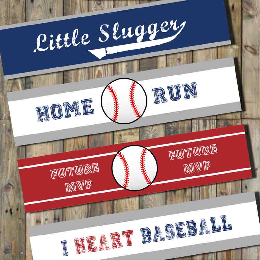 baseball printable labels