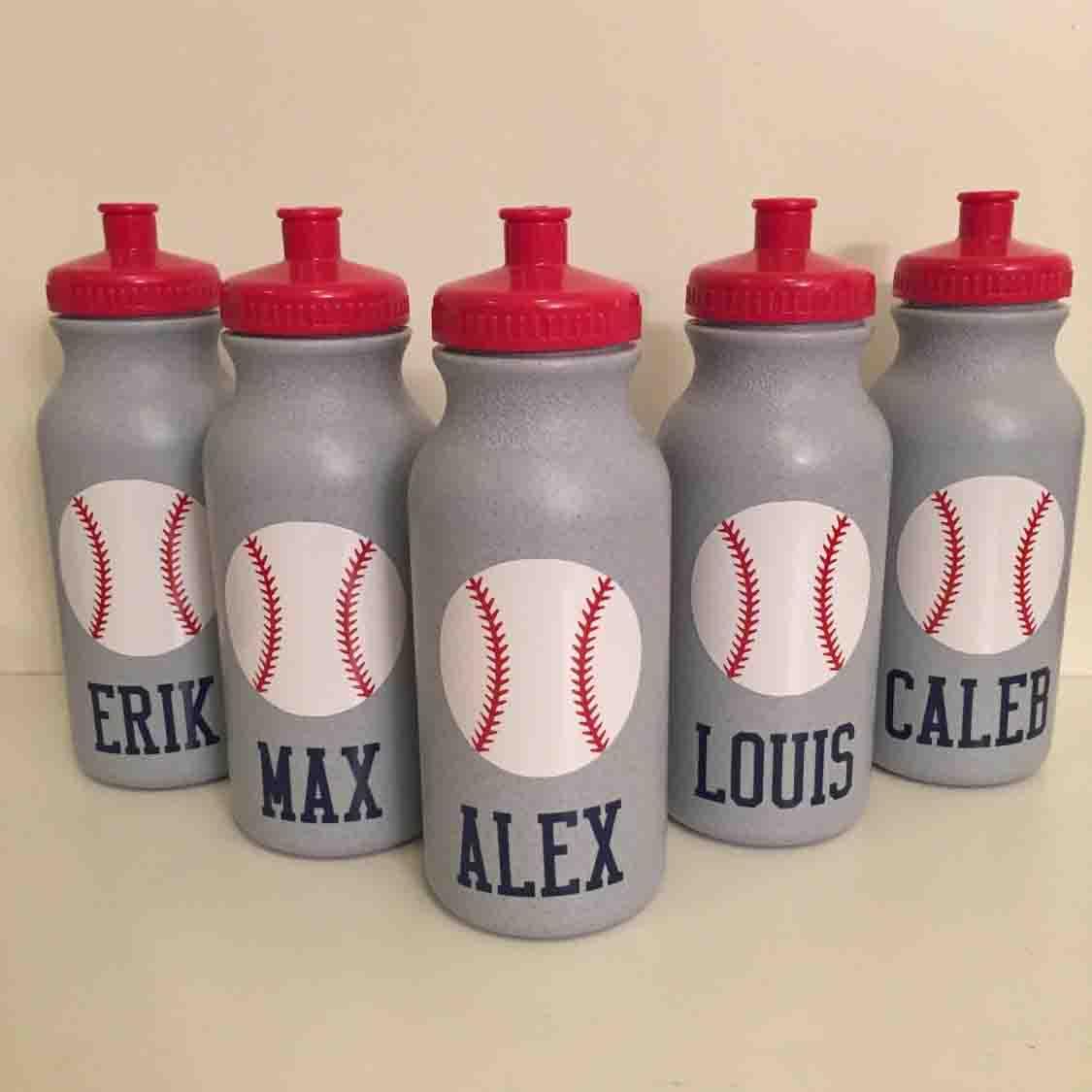 personalized baseball water bottles