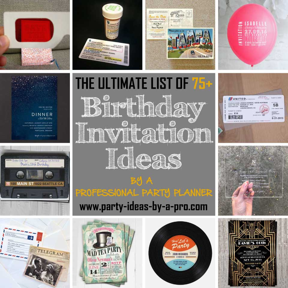 birthday invitation ideas