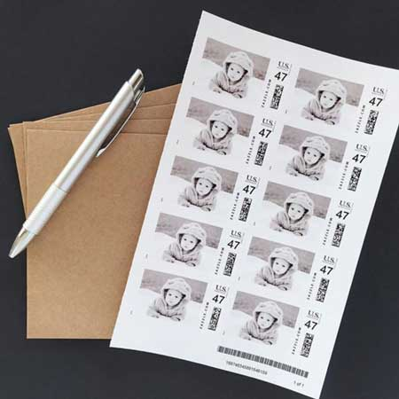 custom photo postage stamps