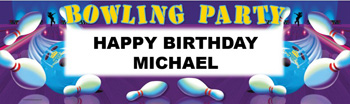 bowling party banner