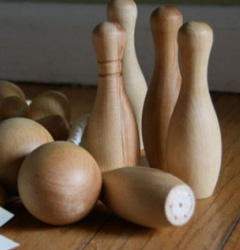 retro bowling pins