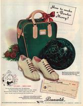 retro bowling posters