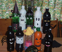 themed bowling pins