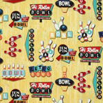 retro bowling fabric