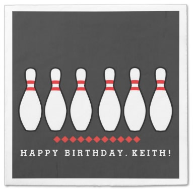 personalized bowling napkins