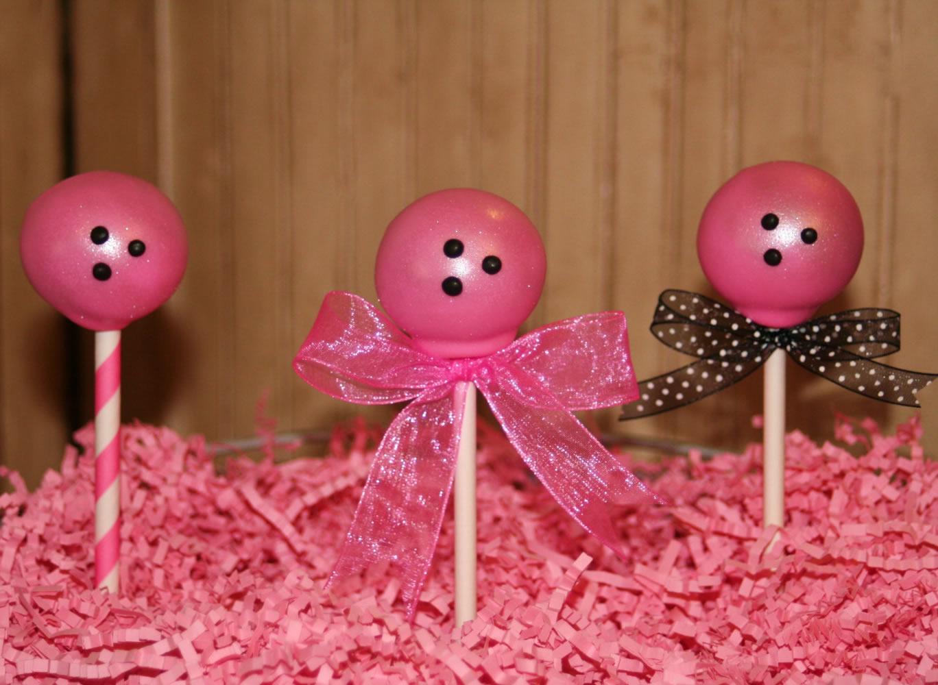 bowling cake pops