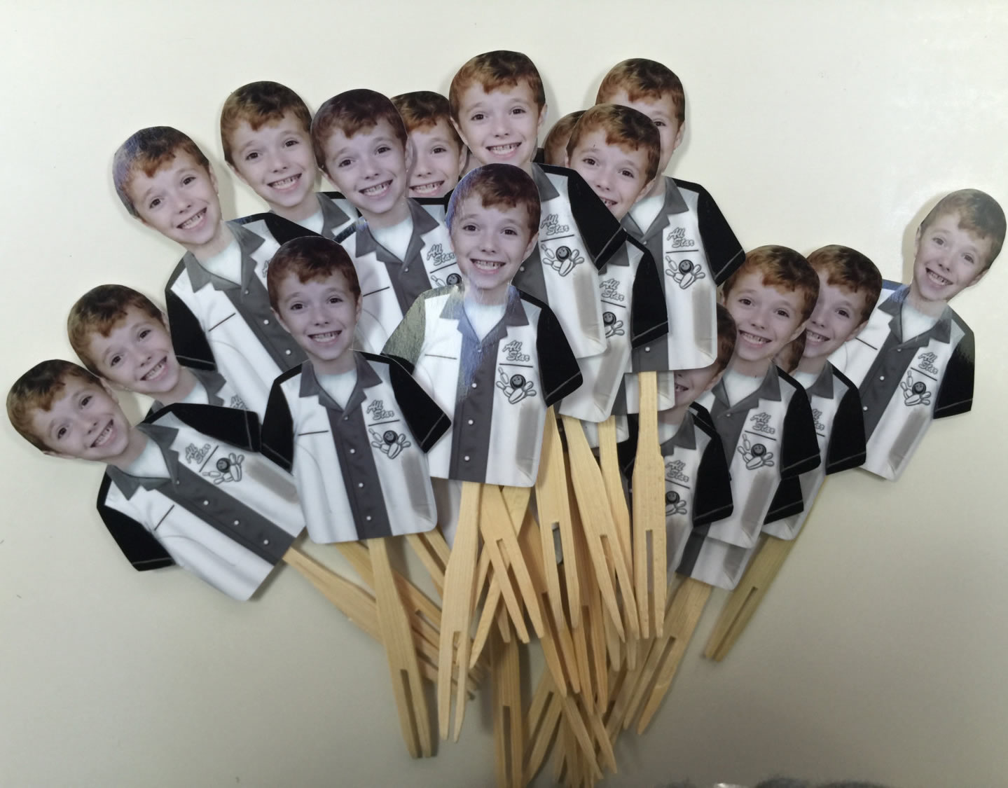 personalized bowling cupcake toppers
