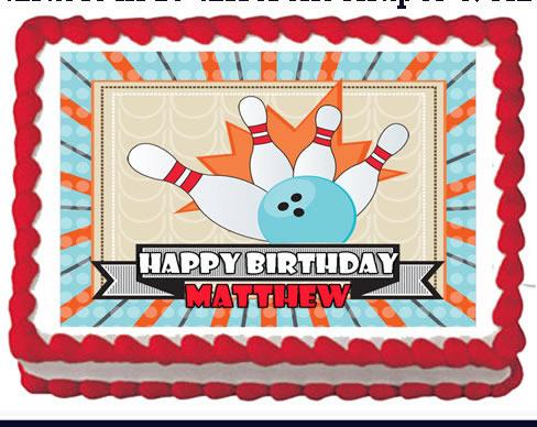 bowling edible cake image
