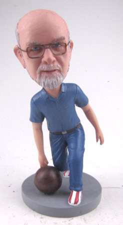 personalized bowling bobblehead