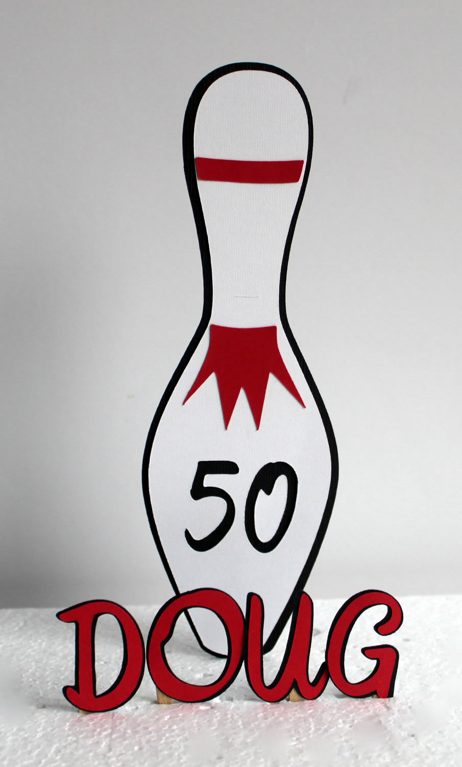 personalized bowling cake topper