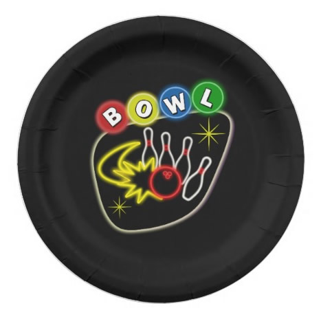 bowling party plates