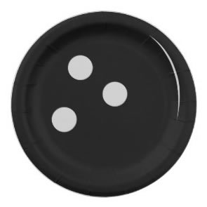 bowling ball party plates