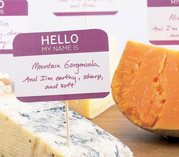 hello my name is cheese labels