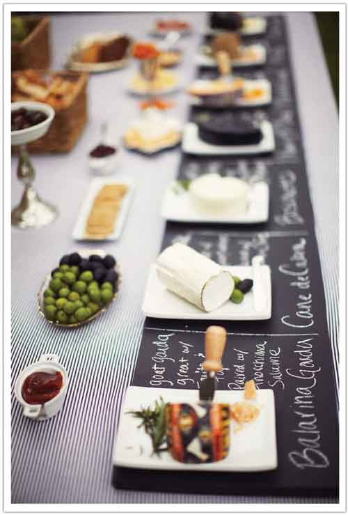 chalkboard buffet table cover