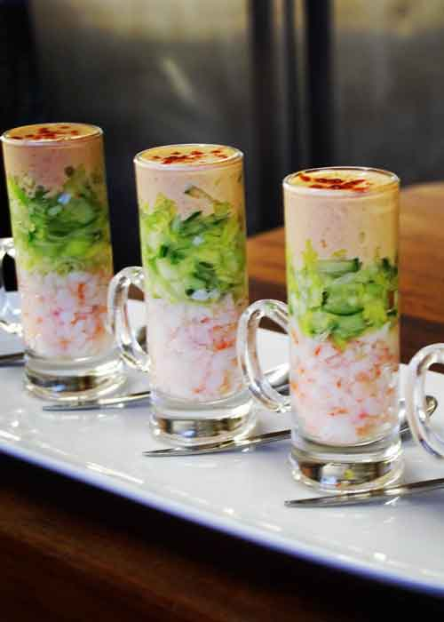 shrimp cocktail in shooters