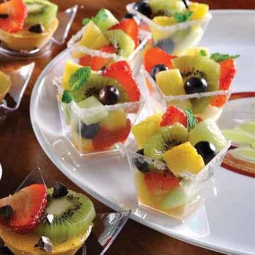 fruit tasting cups
