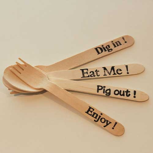 personalized wooden utensils