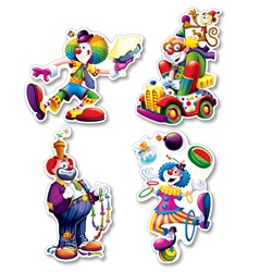 clown cut outs