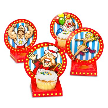 carnival cupcake holders